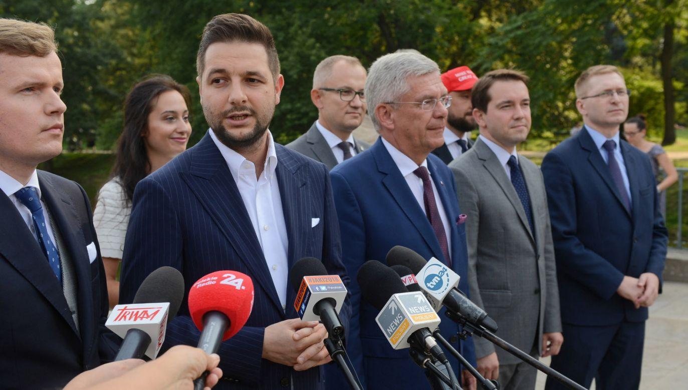 Patryk Jaki przedstawił swój sztab (fot. PAP/Jakub Kamiński)
