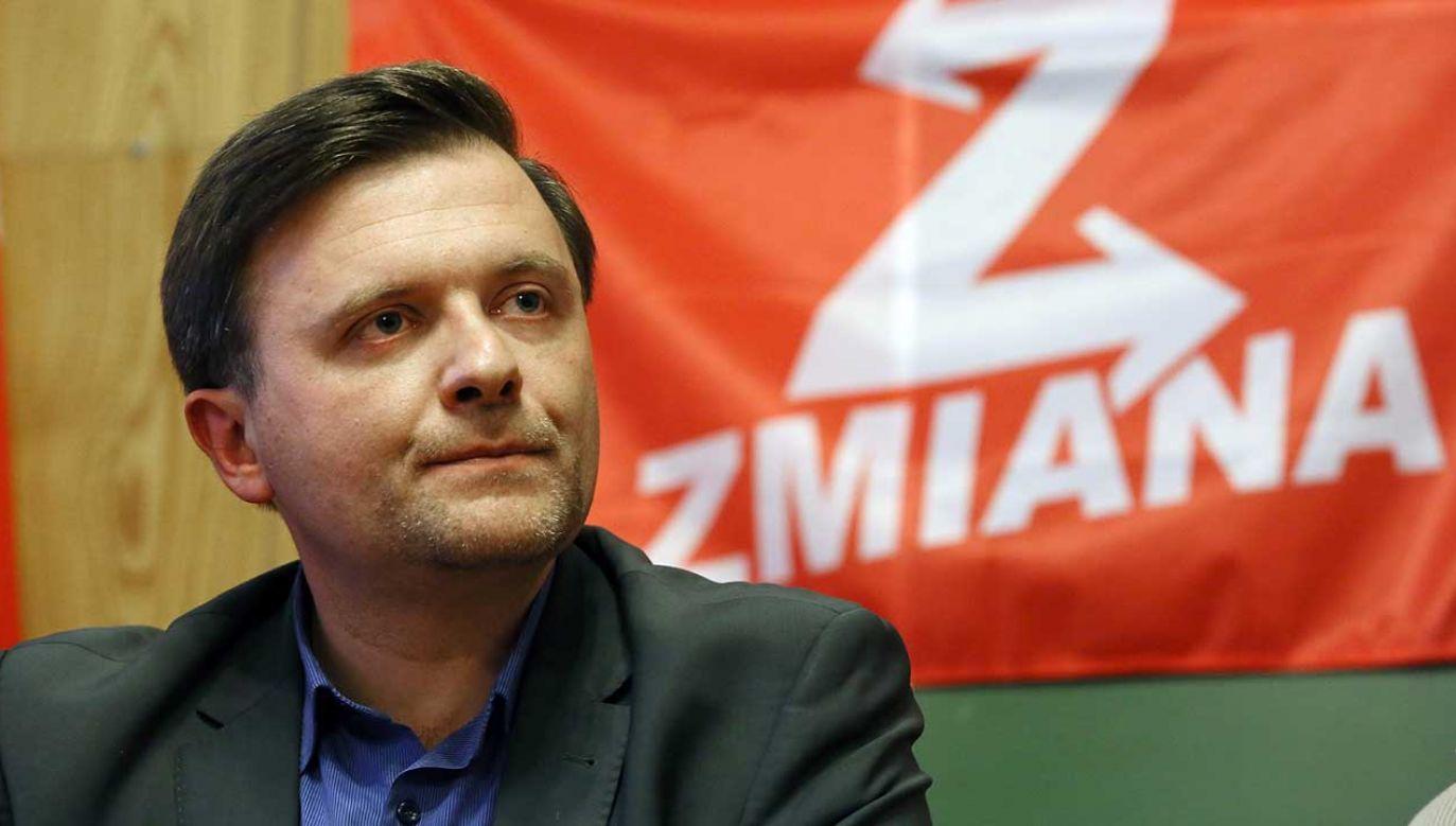 Mateusz Piskorski, lider partii Zmiana (fot. arch. PAP/Tomasz Gzell)