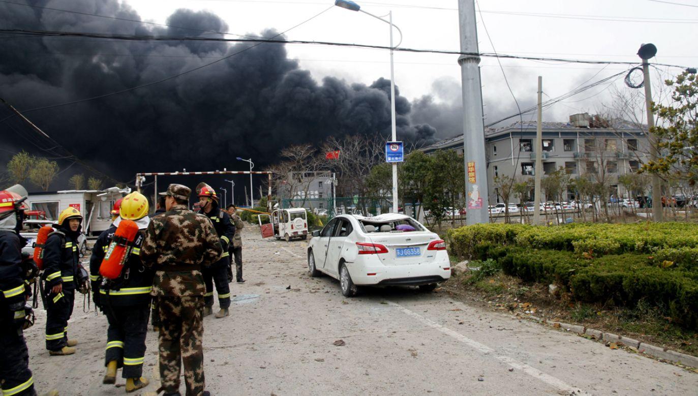 W wyniku eksplozji zginęły 44  osoby, a 640 jest rannych  (fot. PAP/EPA/STRINGER)