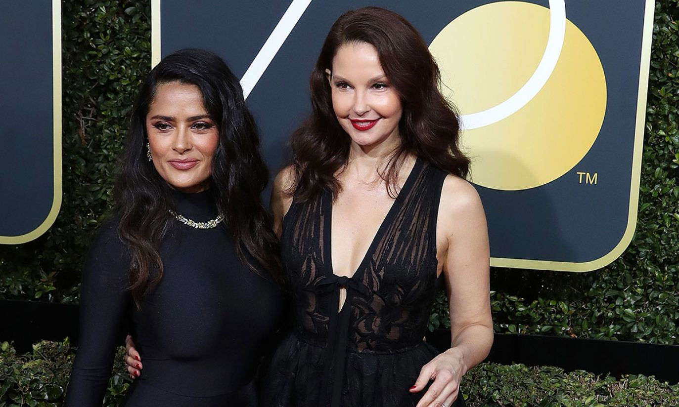 Salma Hayek i Ashley Judd (fot. EPA/PAP)