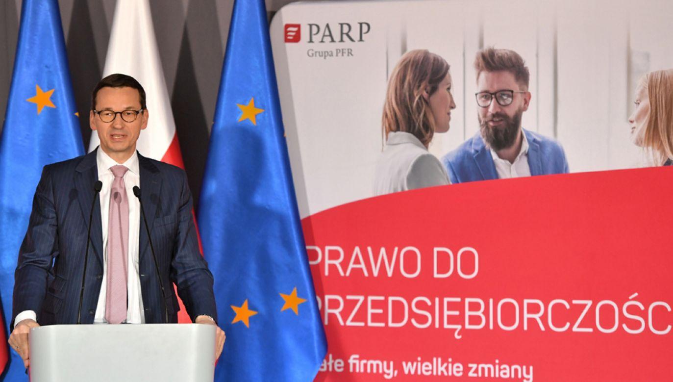 Premier Mateusz Morawiecki (fot. PAP/Maciej Kulczyński)