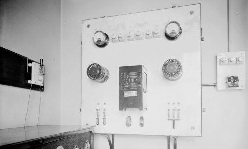 Gabinet reporterów radiowych Pałacu Prasy, rok 1927. Fot. NAC/IKC