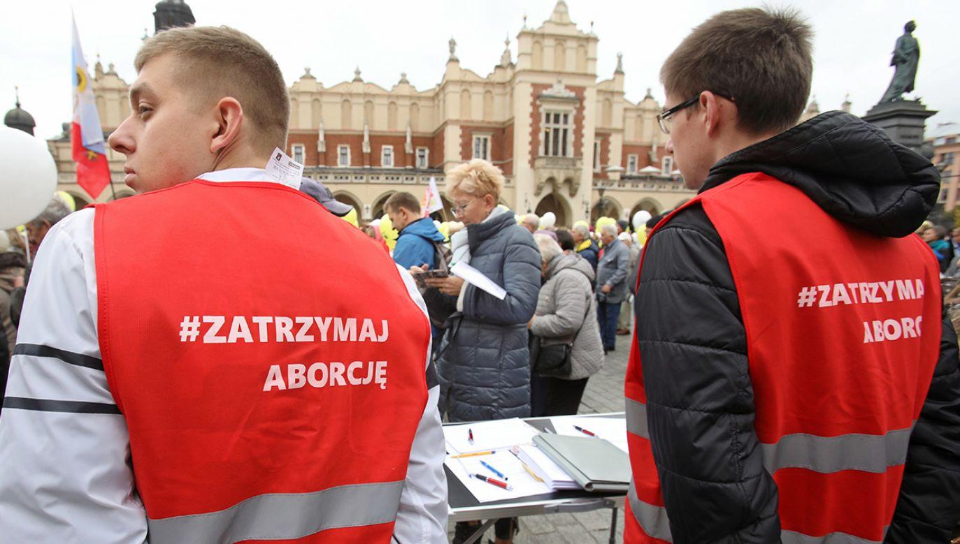 Podpisy zostaną złożone w Sejmie przed końcem listopada (fot. arch. PAP/Stanisław Rozpędzik)