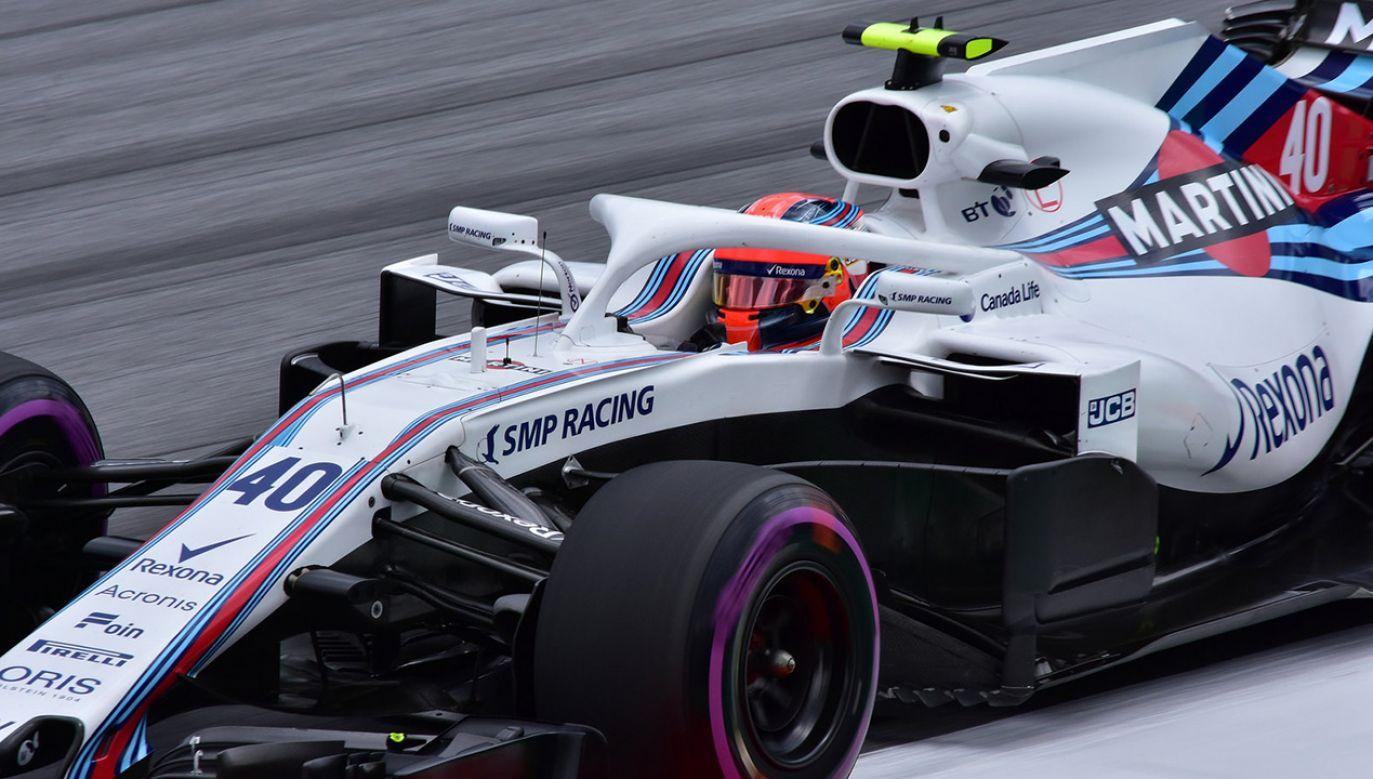 Robert Kubica za kierownicą Williamsa FW41 podczas sesji treningowej przed Grand Prix Austrii 2018 (fot. Flickr/pedrik)