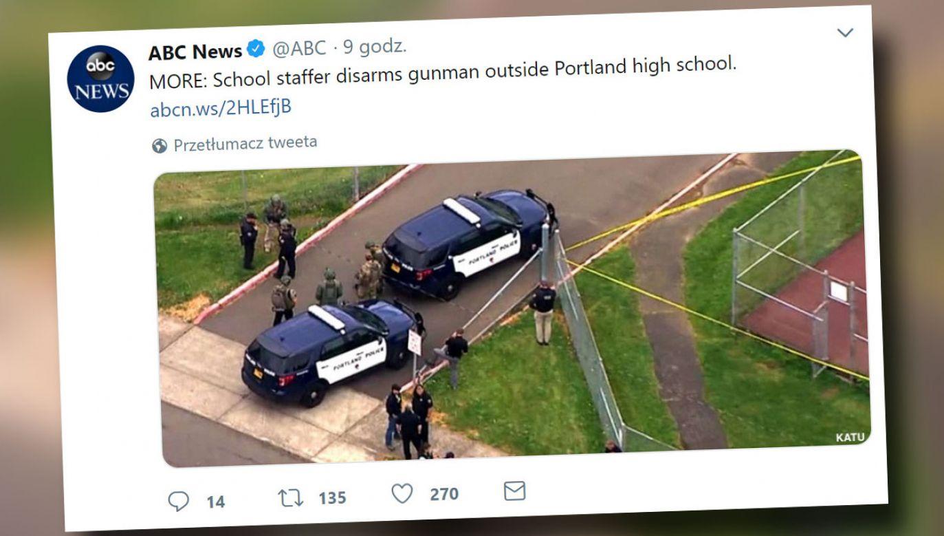 18–latek chciał użyć broni w szkole (fot. Twitter/@ABC)