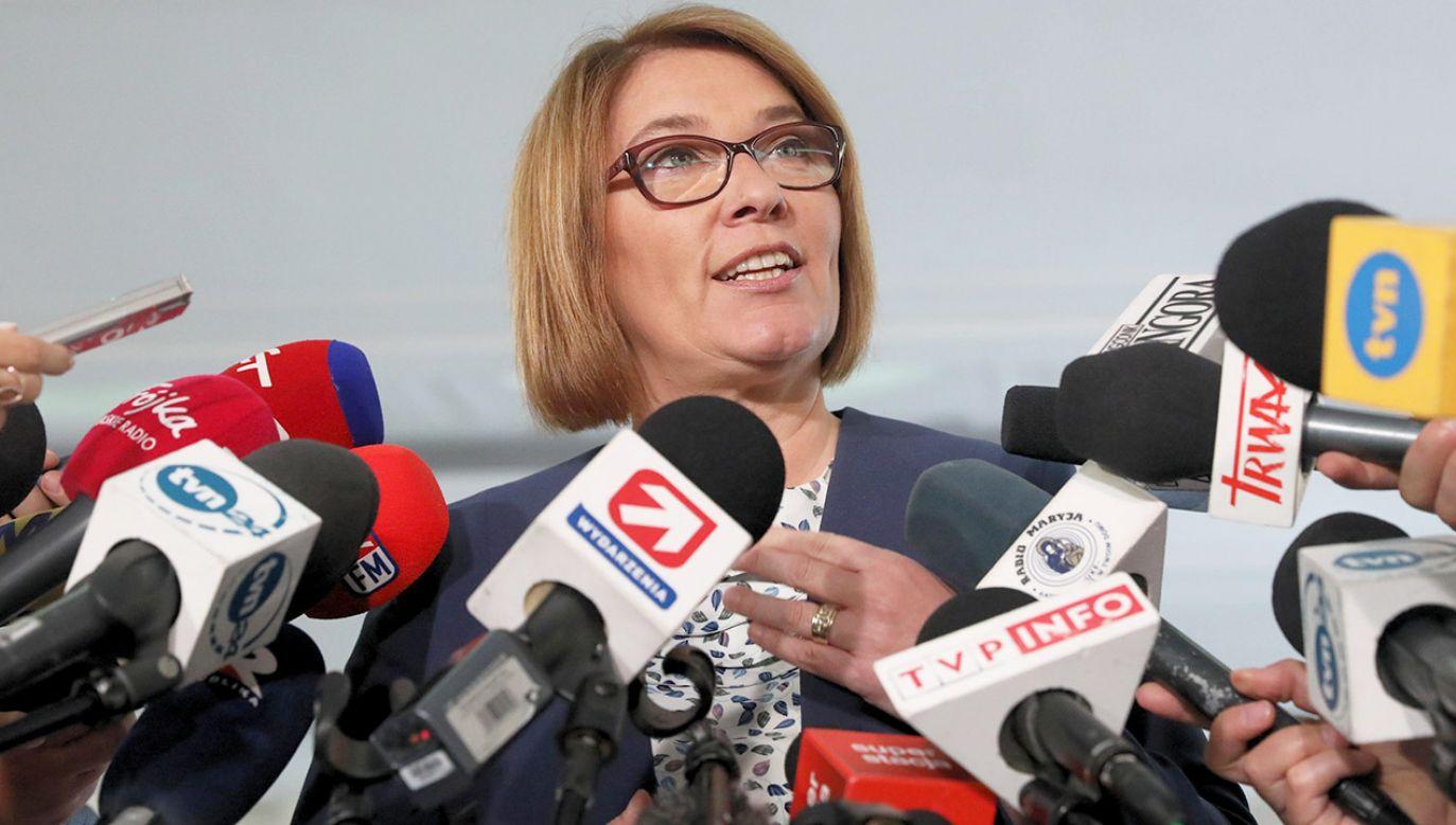 Beata Mazurek, rzecznik prasowy Prawa i Sprawiedliwości (fot. arch.PAP/Tomasz Gzell)