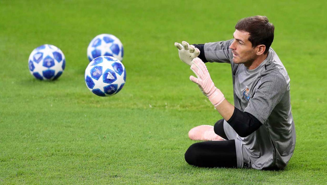Iker Casillas rozegrał dotychczas w Lidze Mistrzów 168 meczów (fot. PAP/EPA/FRIEDEMANN VOGEL)