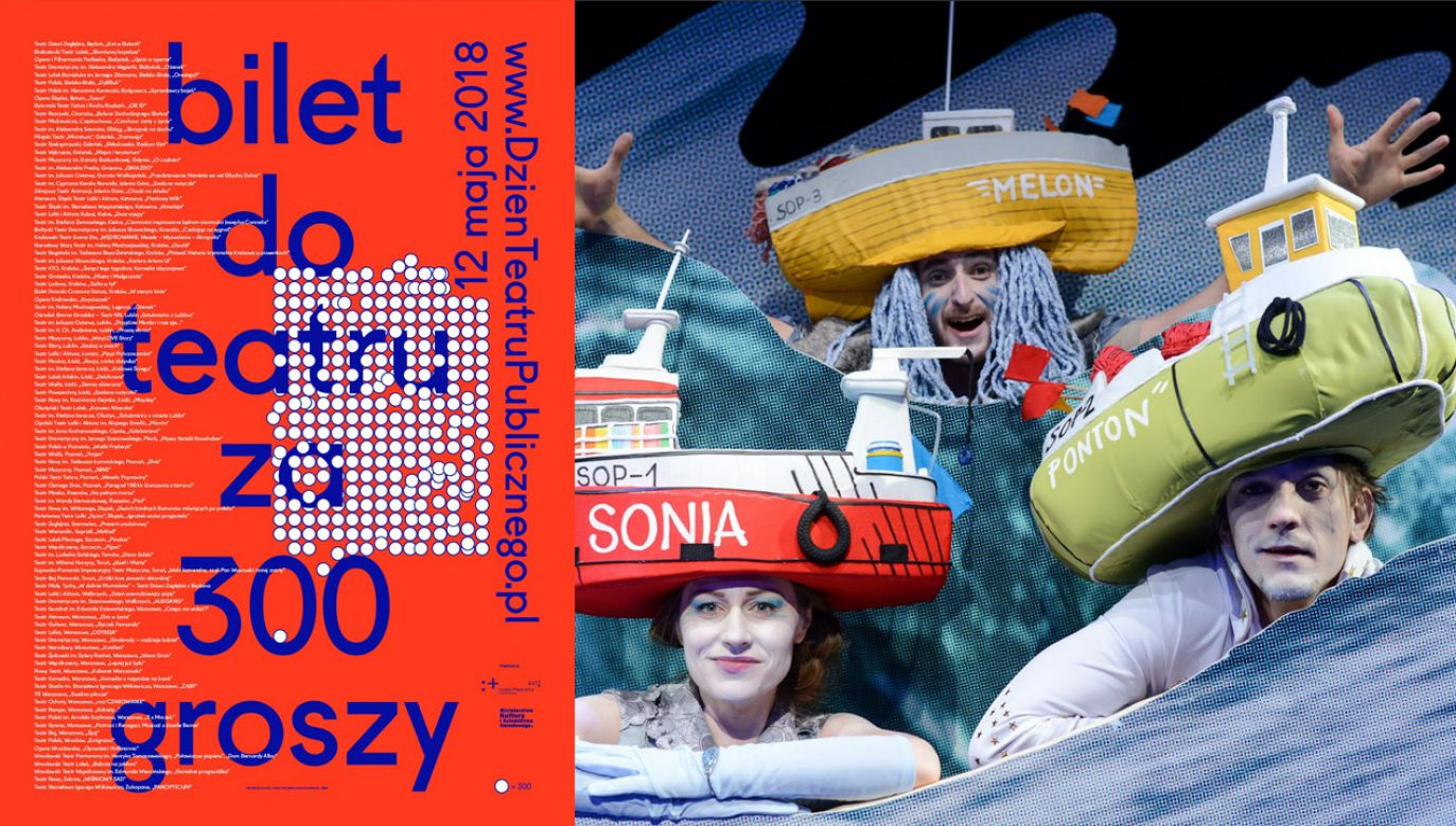 """Akcja """"Bilet do teatru za 300 groszy"""" organizowana jest w ramach Dnia Teatru Publicznego (fot. fb@TeatrMiniatura)"""