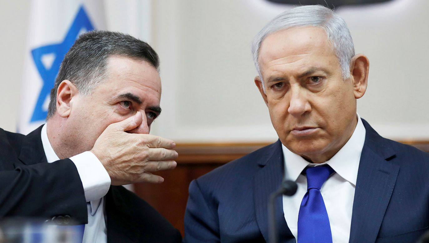 Israel Katz i Benjamin Netanjahu (fot. Abir Sultan/Pool via REUTERS)