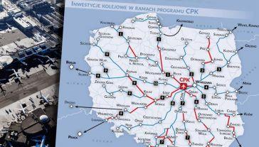Centralny Port Komunikacyjny to planowany węzeł przesiadkowy między Warszawą i Łodzią, który zintegruje transport lotniczy, kolejowy i drogowy (fot. TT/Centralny Port Komunikacyjny)
