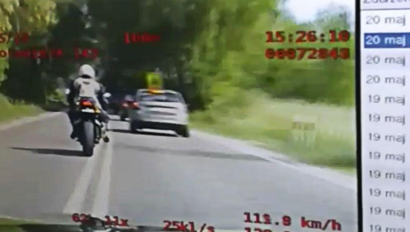 Nagranie z policyjnego pościgu (fot. policja.waw.pl)