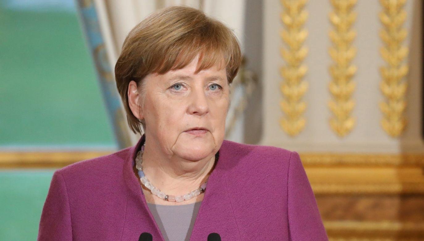 Kanclerz Niemiec Angela Merkel (fot. PAP/EPA/LUDOVIC MARIN / POOL)