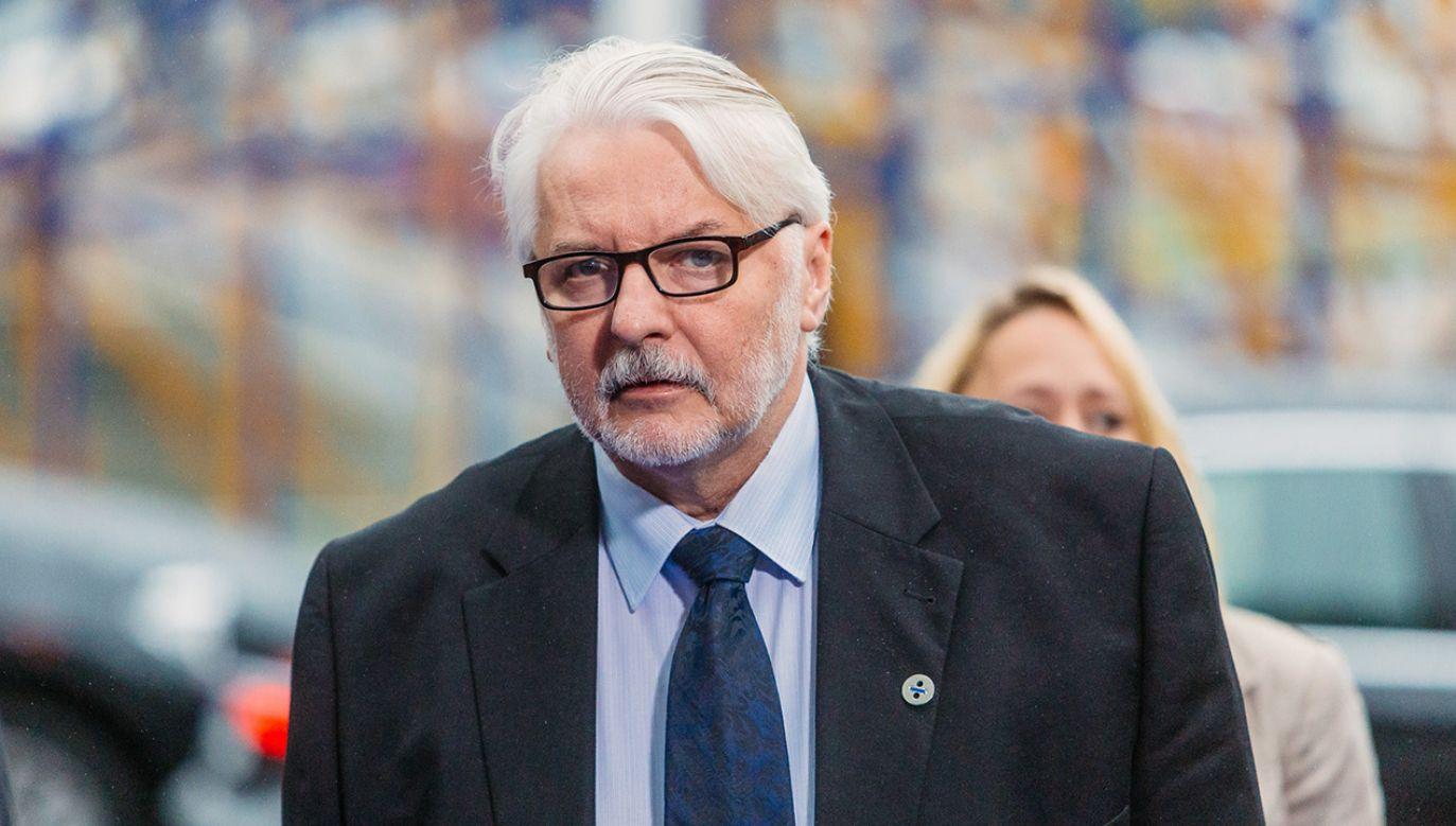 Witold Waszczykowski wraca do Polski (fot. Flickr/EU2017EE)