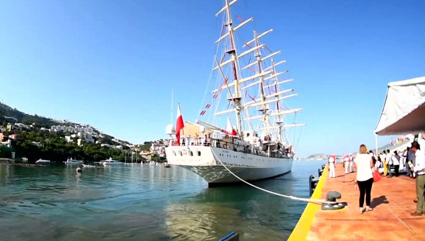 Dar Młodzieży przypłynie do Panamy 22 stycznia (fot. TVP Info)