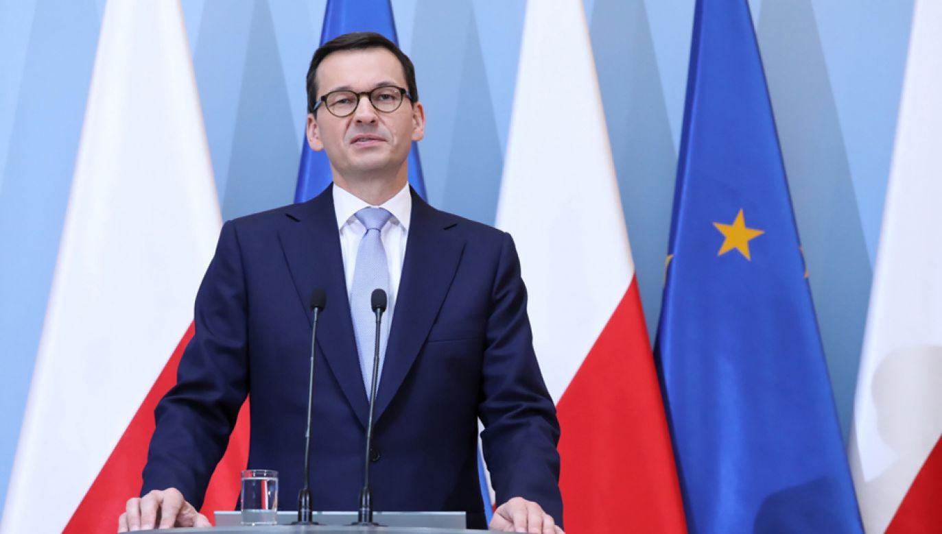 Premier Mateusz Morawiecki (fot. PAP/Tomasz Gzell)