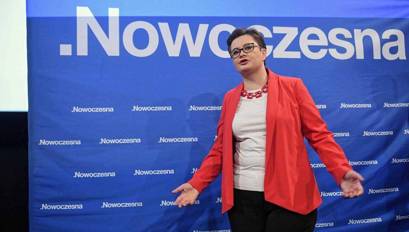 Szefowa Nowoczesnej Katarzyna Lubnauer (fot. PAP/Radek Pietruszka)