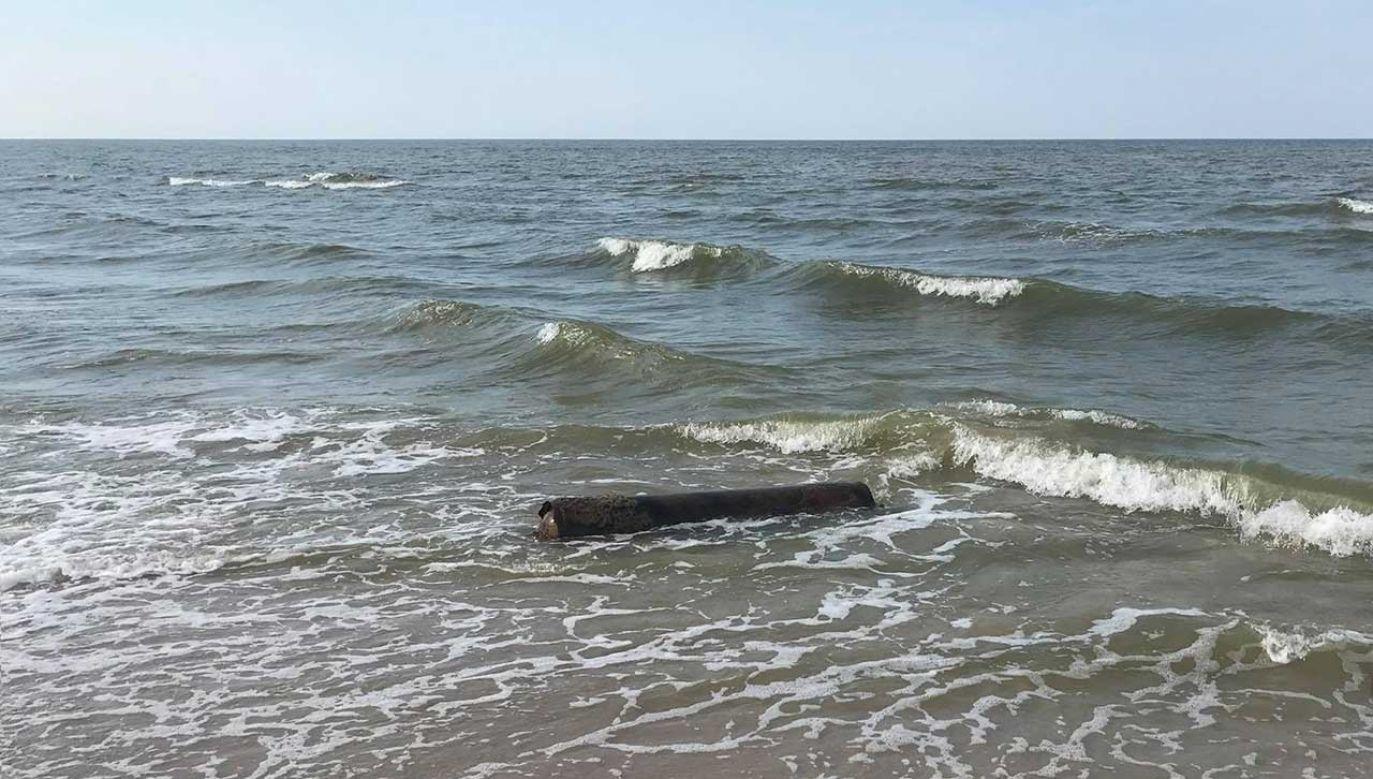 Torpeda wyłoniła się z morza (fot. fb/Ochotnicza Straż Pożarna w Łebie)