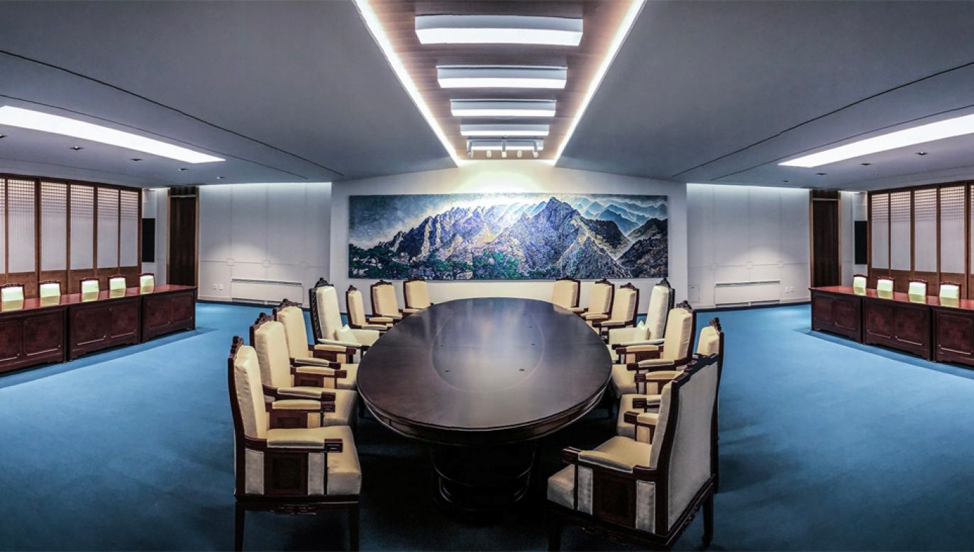 Do spotkania przywódców ma dojść w wiosce Panmundżom (fot. PAP/EPA/SOUTH KOREAN PRESIDENTIAL OFFICE HANDOUT)