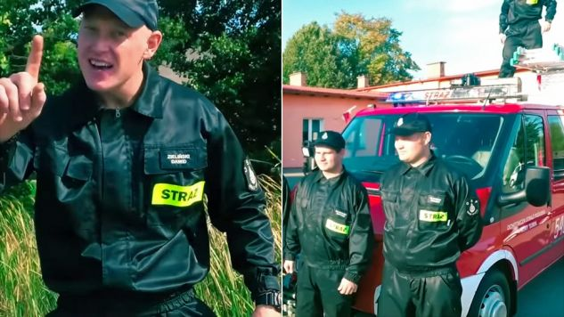 Piosenka druhów z OSP Nowe Gacno stała się hitem (fot. YT/Skowronski Mariusz)