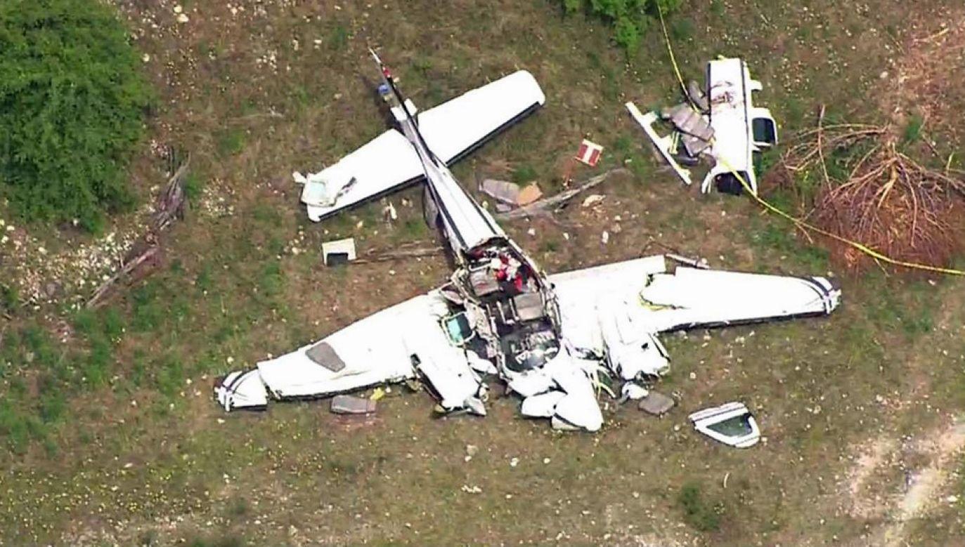 Wrak odnaleziono około 10 km od pasa startowego (fot TT/KPRC 2)