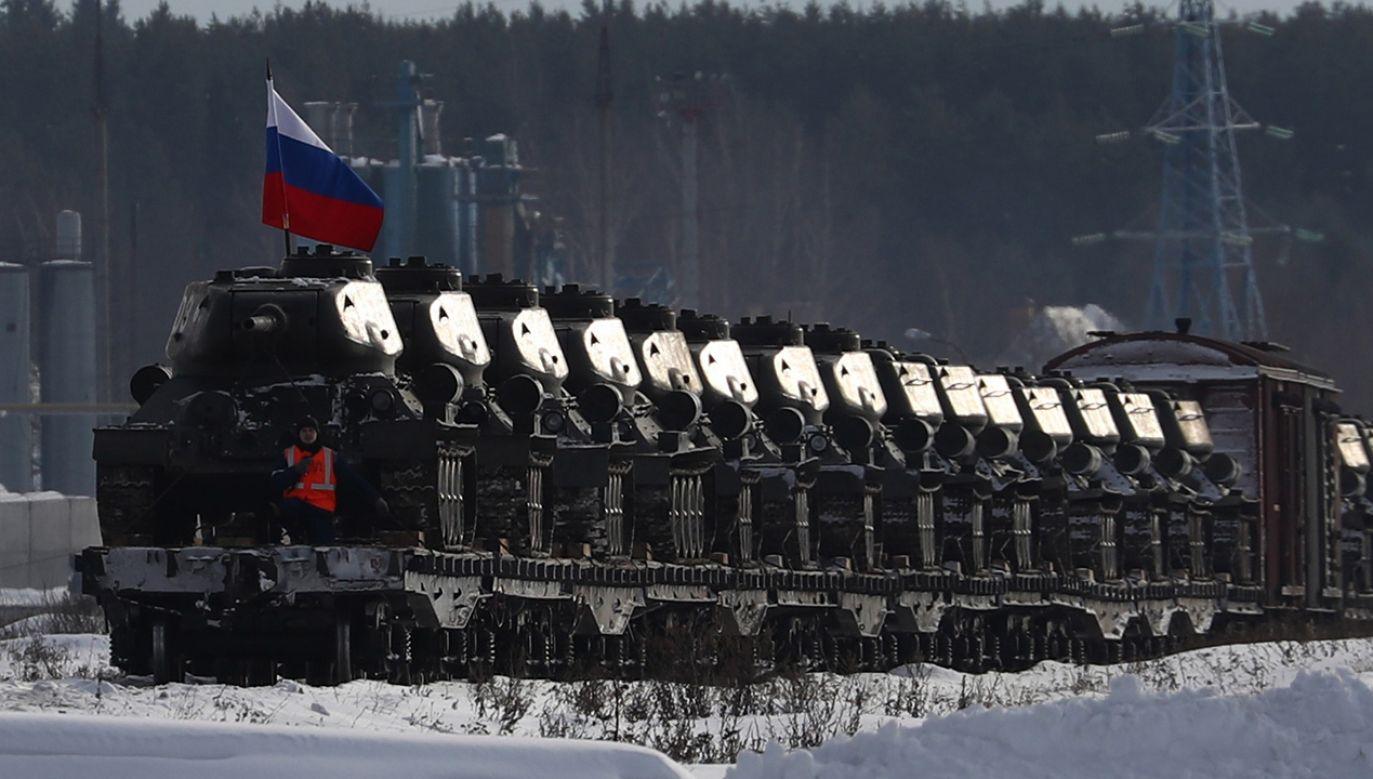 """""""Rosja podejmuje się działań destabilizujących obszar transatlantycki"""" (fot. Stanislav Krasilnikov\TASS/Getty Images)"""