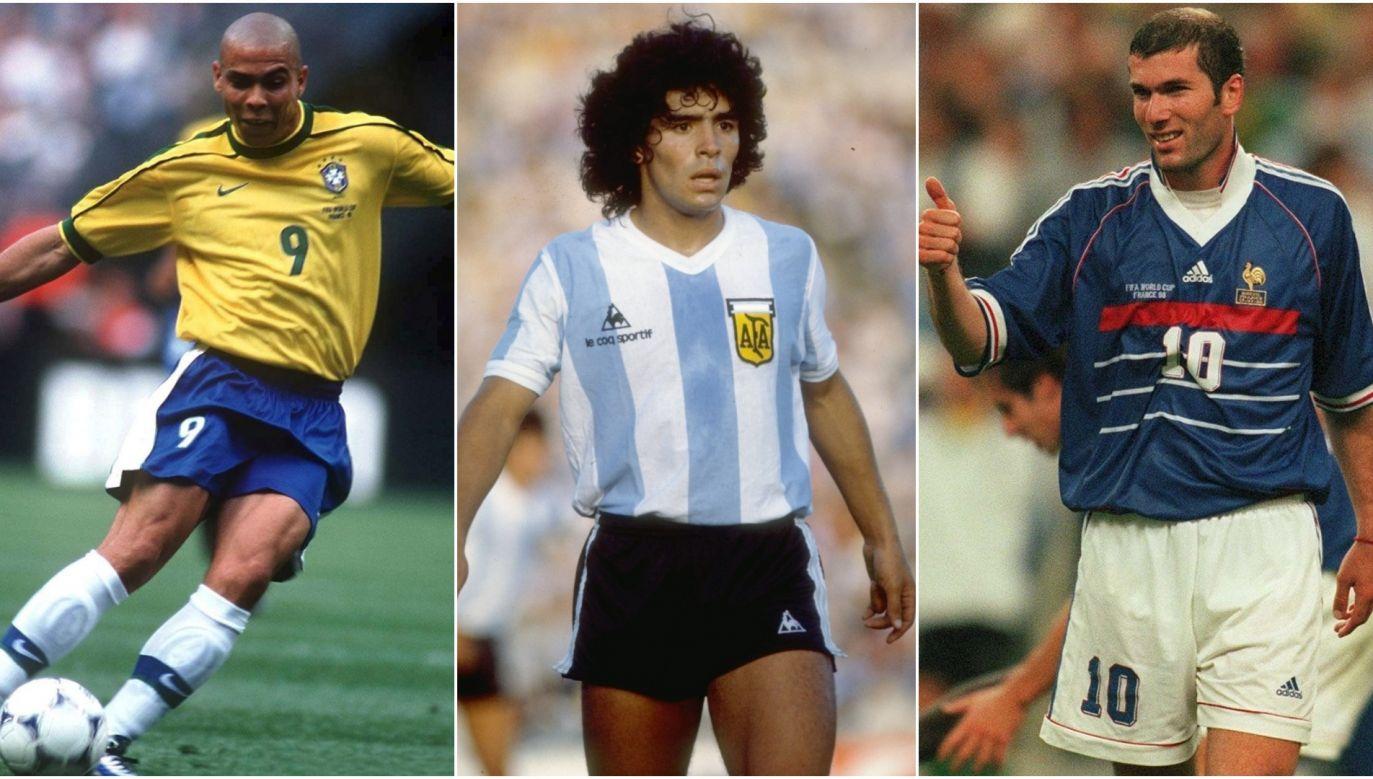 Ronaldo, Maradona, Zidane (fot. Getty)