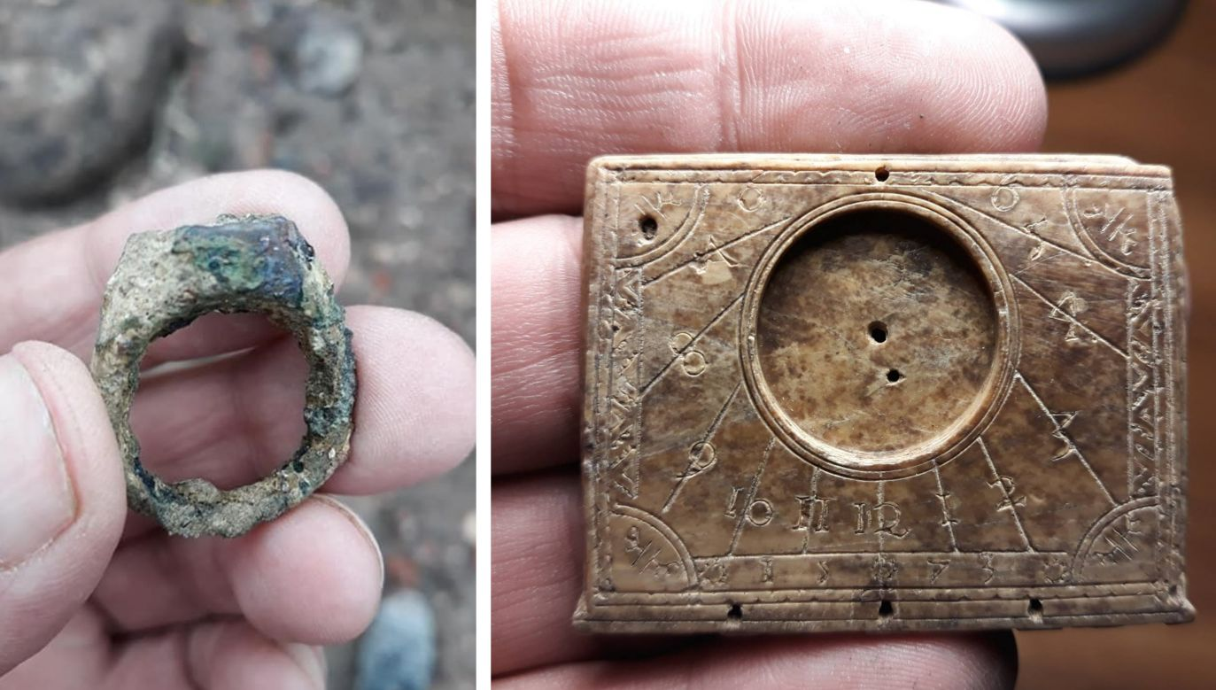 The nobleman's ring discovered at the old prison facility. Photo: www.facebook.com/NadzoryArcheologiczne