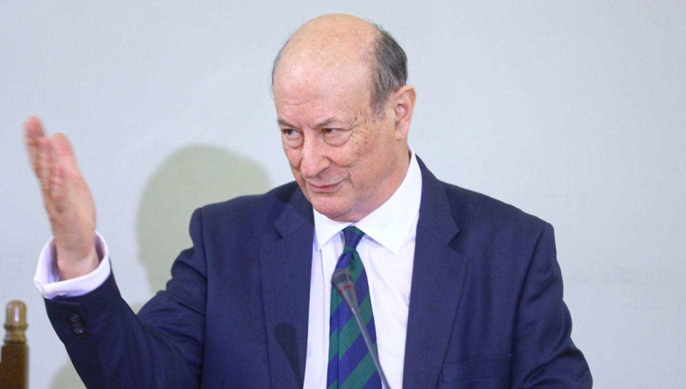 Były minister finansów w rządzie PO-PSL Jan Vincent-Rostowski (fot. PAP/Rafał Guz)