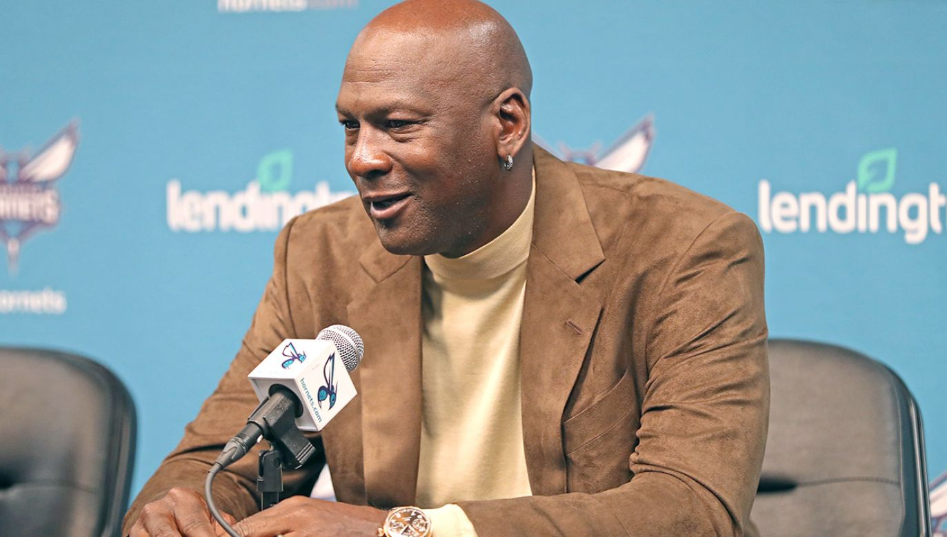Koszykarz Michael Jordan (fot. Kent Smith/NBAE via Getty Images)