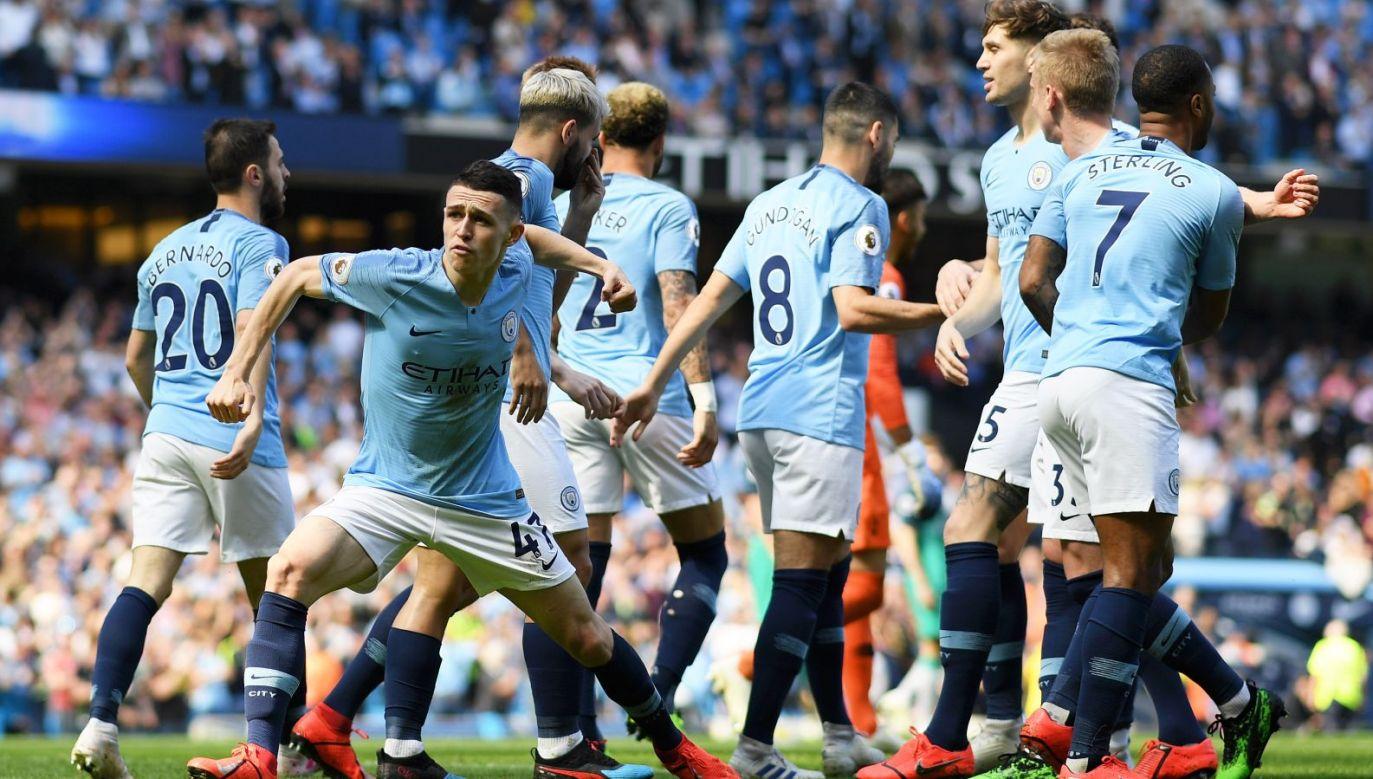 Phil Foden i piłkarze Manchesteru City (fot. Getty)