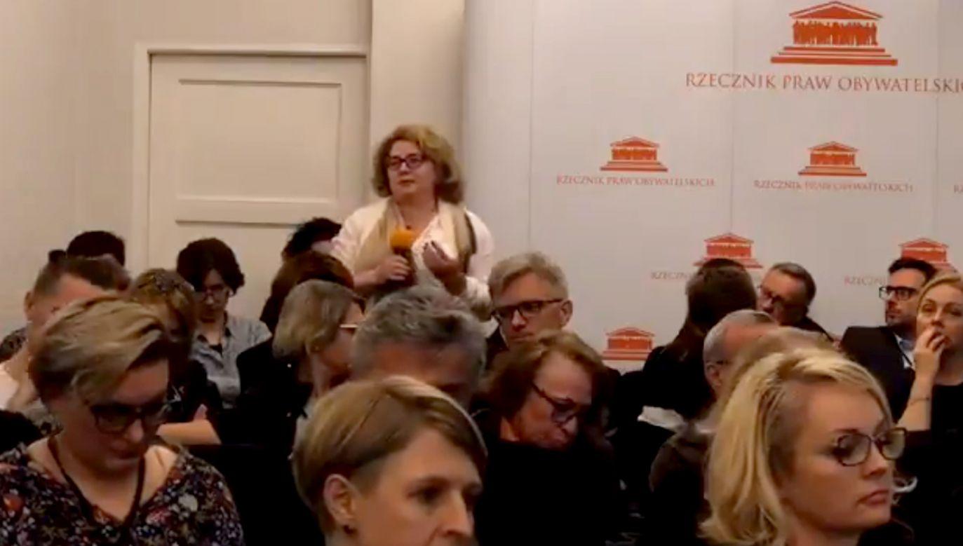 Skandaliczne słowa uczestniczki konferencji w siedzibie RPO (fot. TT/Maciej Stańczyk )