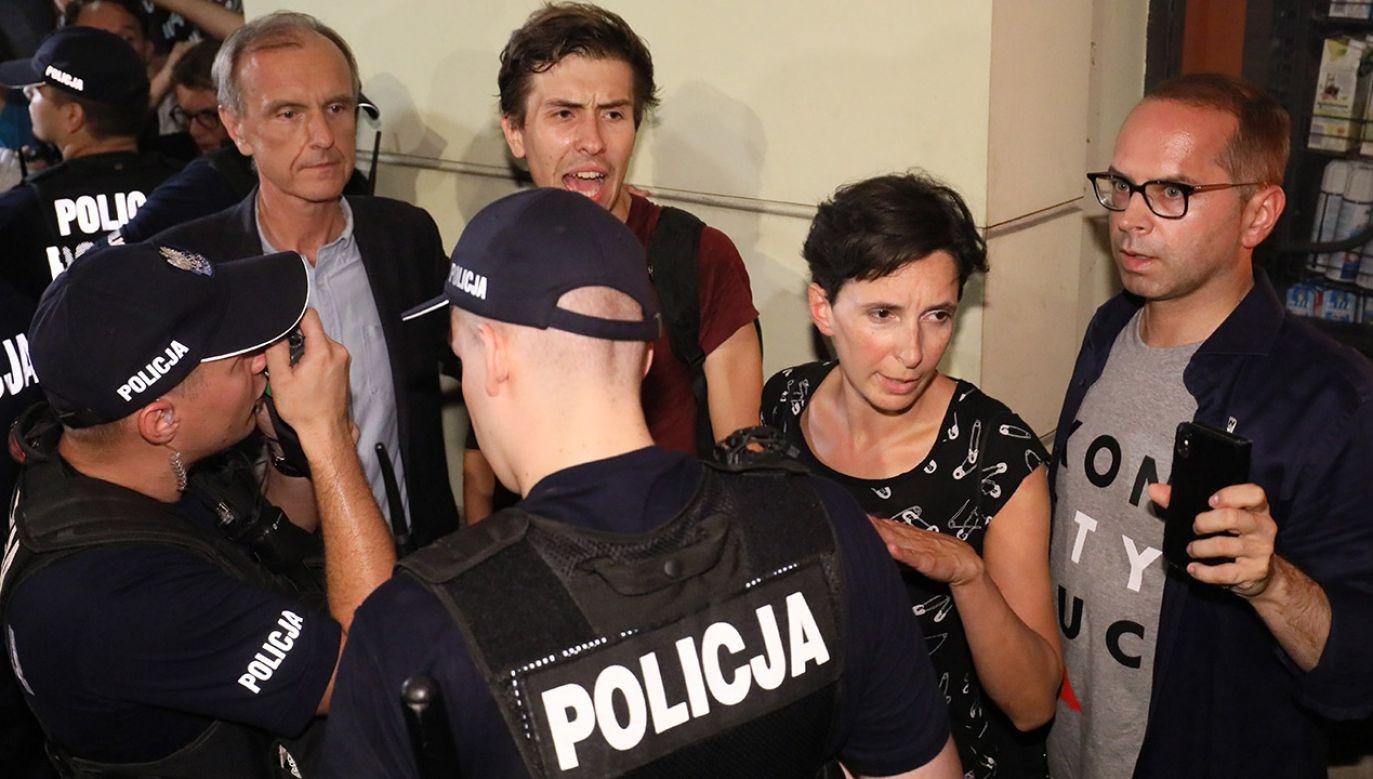 W protestach brali udział politycy opozycji parlamentarnej (fot. arch.PAP/Paweł Supernak)