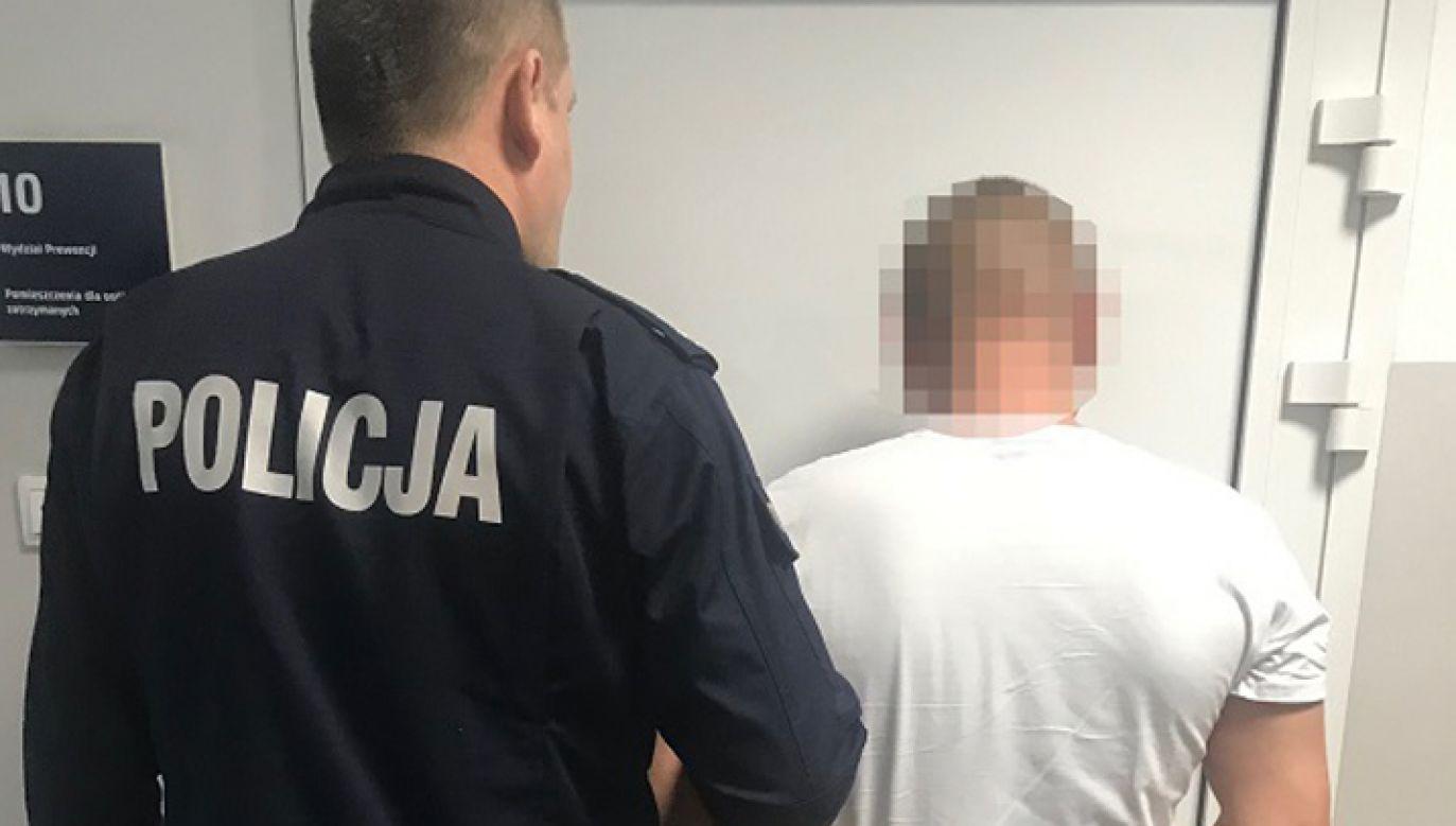 Jeden z zatrzymanych mężczyzn (fot. KPP w Gnieźnie)