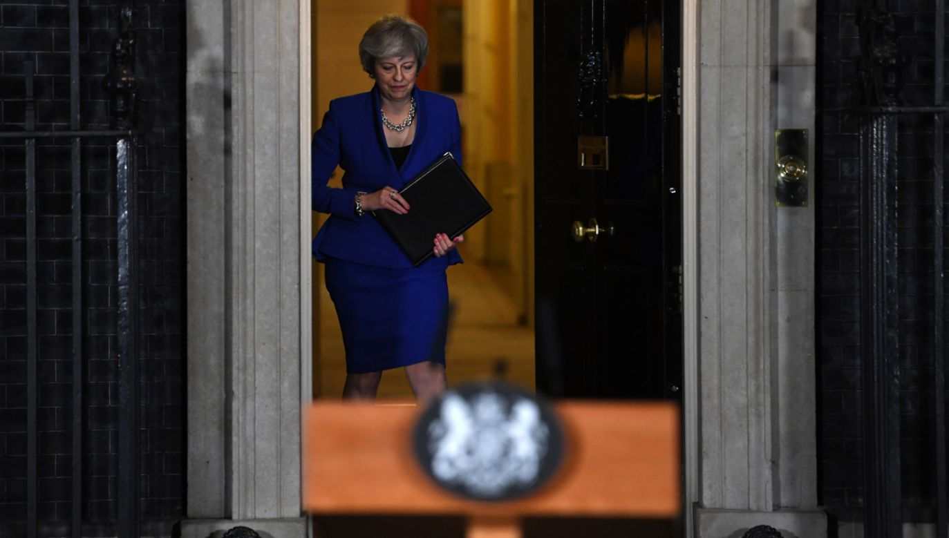 Premier Theresa May (fot. PAP/EPA/NEIL HALL)