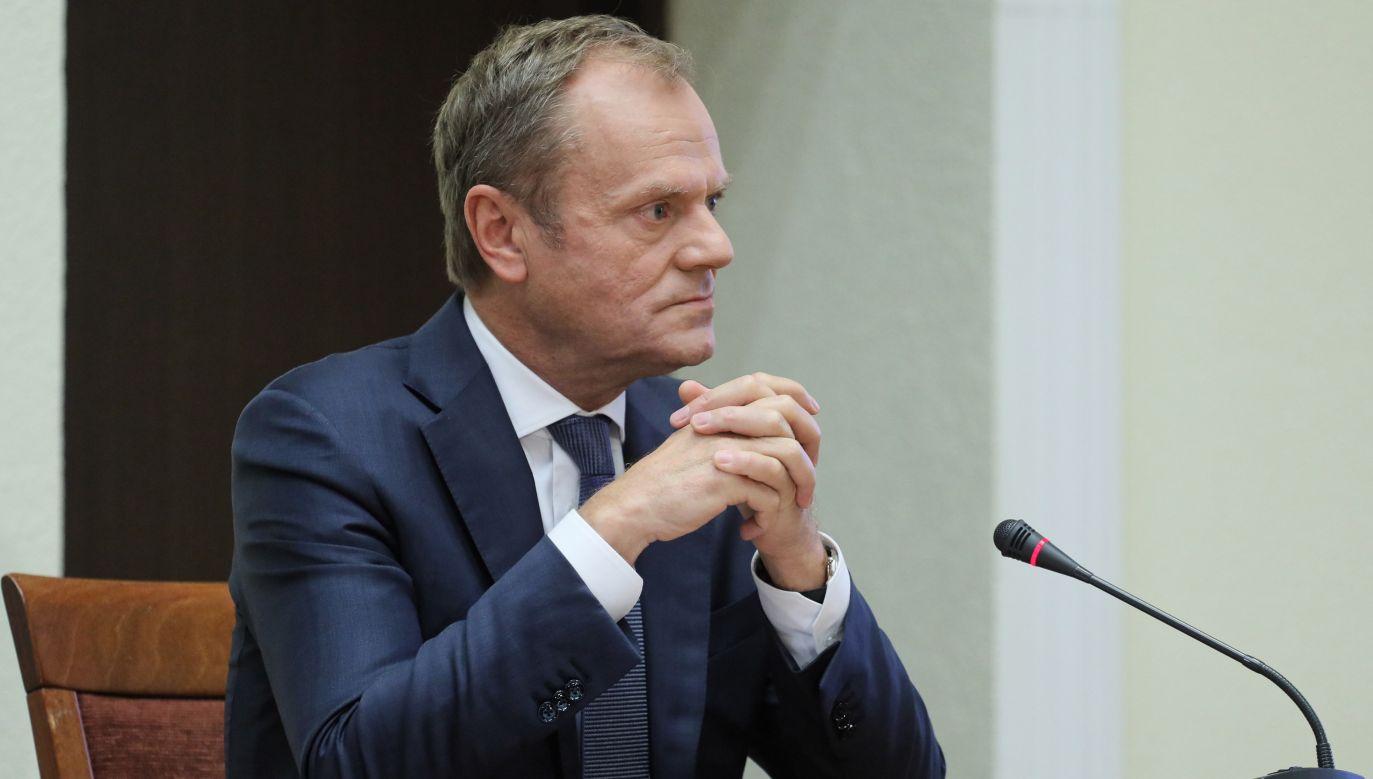 Przewodniczący Rady Europejskiej Donald Tusk (fot. arch. PAP/Paweł Supernak)