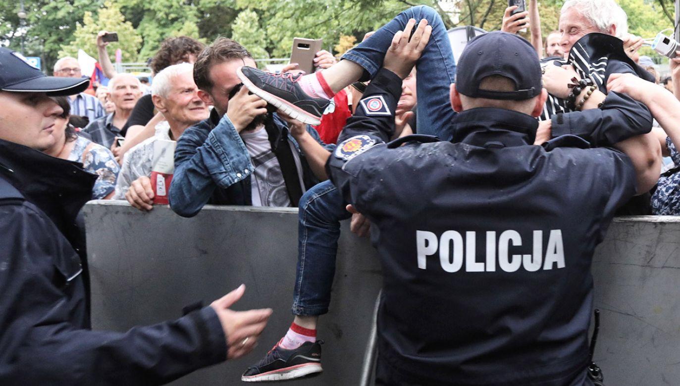 Manifestacja przeciwników reformy sądownictwa pod hasłem