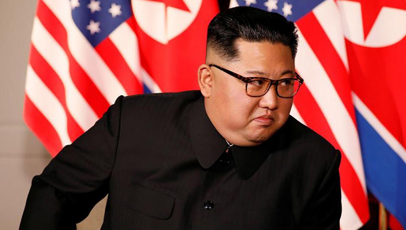 Po historycznym szczycie w Singapurze prezydent Donald Trump i przywódca Korei Płn Kim Dzong Un (na zdj.)  podpisali wspólne oświadczenie (fot. REUTERS/Jonathan Ernst)