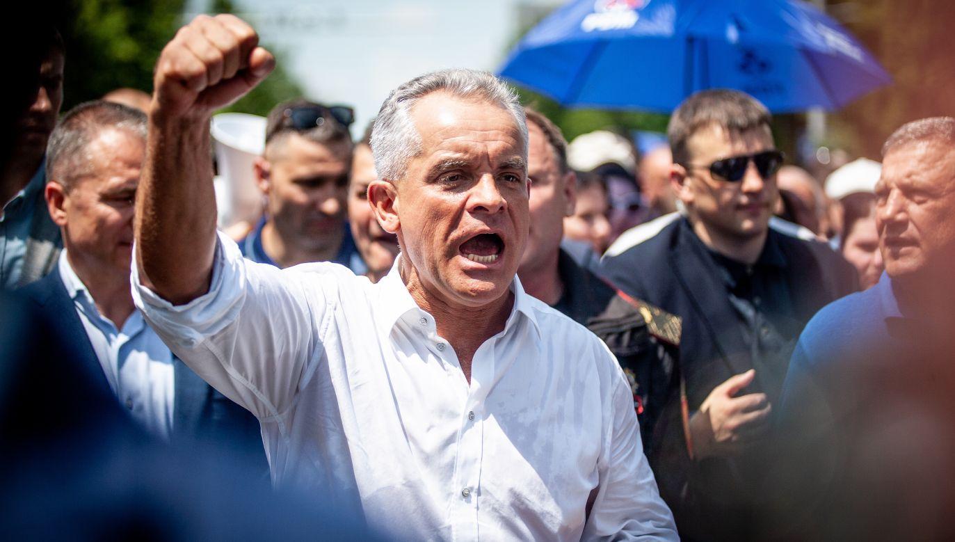 Vladimir Plahotniuc - przewodniczący rządzącej Demokratycznej Partii Mołdawii (fot. Vadim Denisov\TASS via Getty Images)