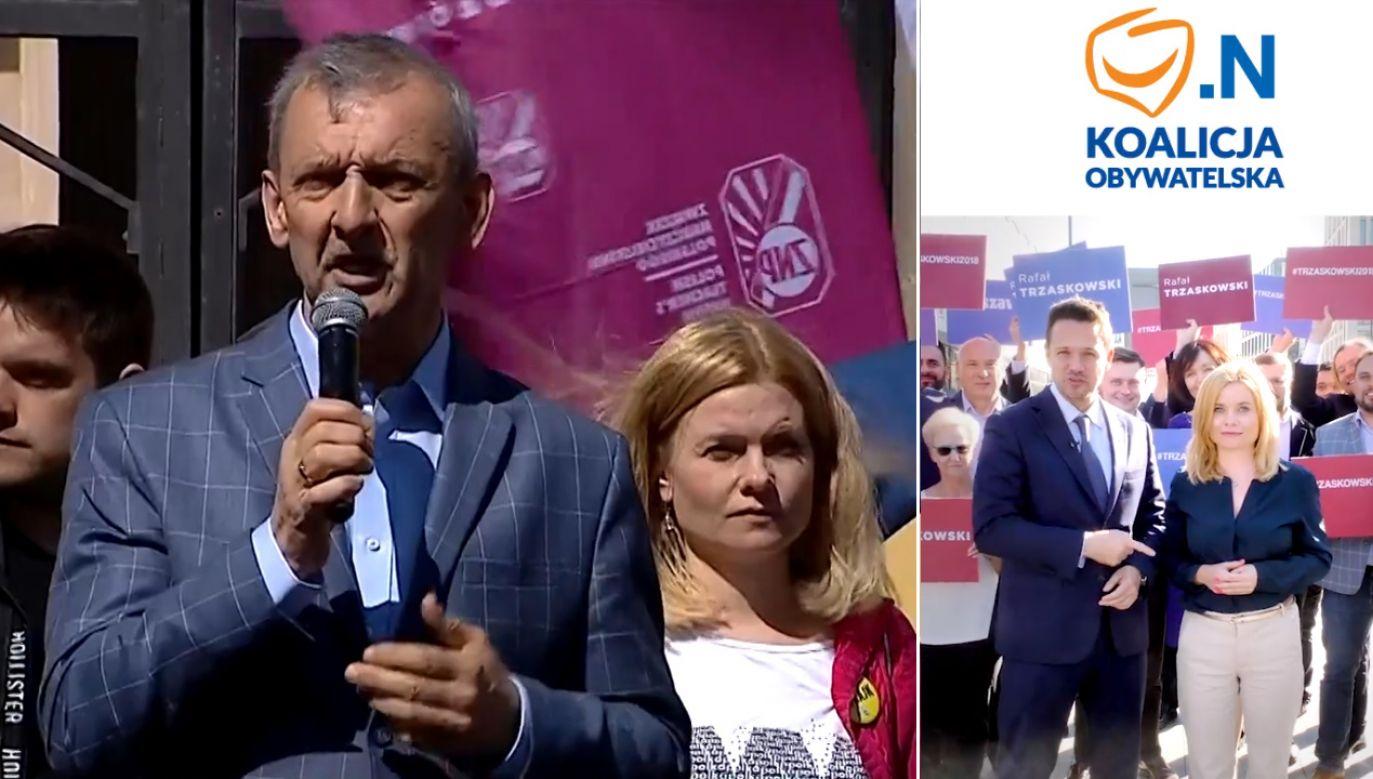 Sprawę opisał na Twitterze radny m. st. Warszawy Sebastian Kaleta (PiS) (fot. TVP info/FB/Dorota Łoboda)