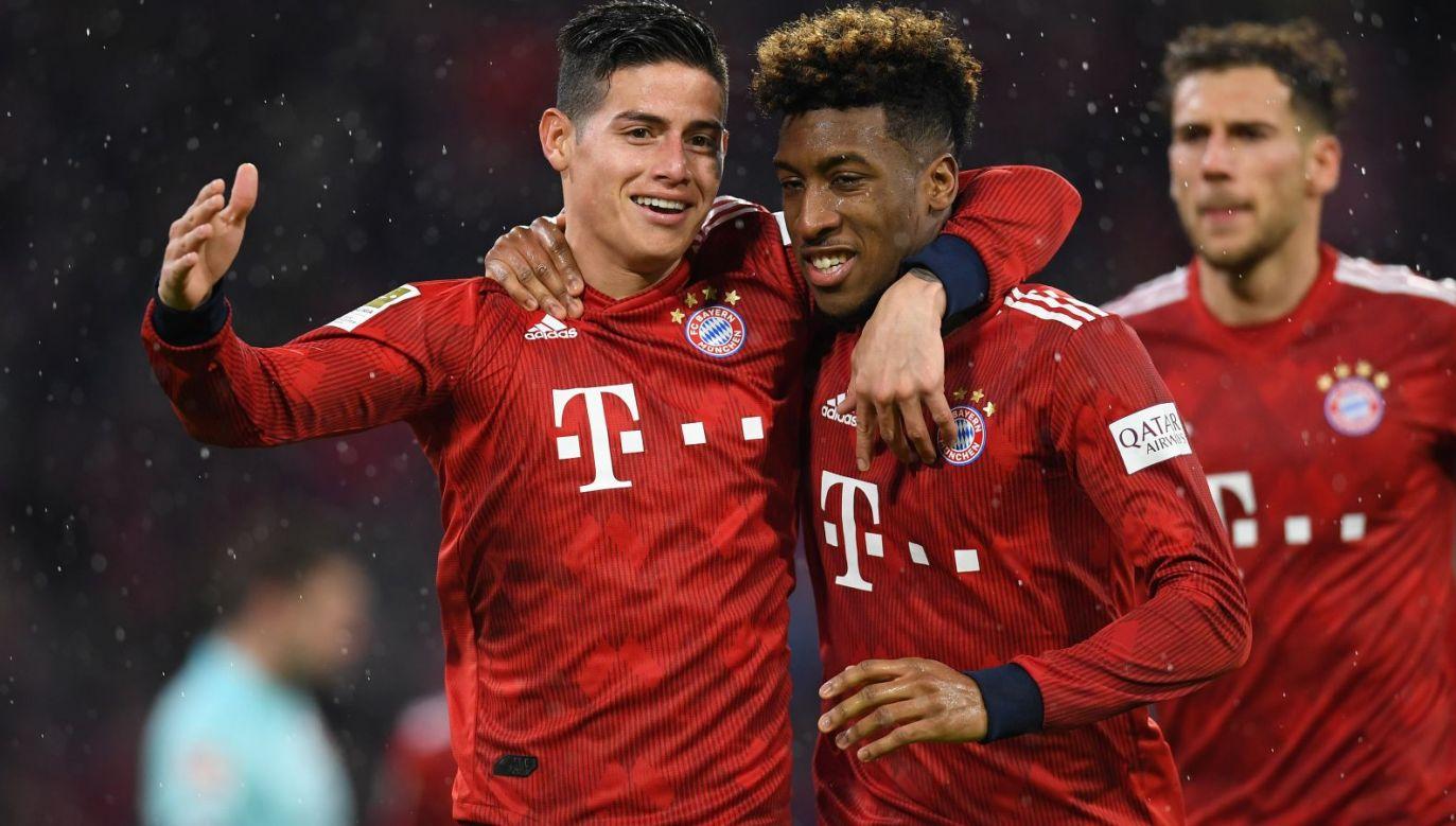 James Rodriguez i Kingsley Coman w barwach Bayernu Monachium (fot. Getty Images)