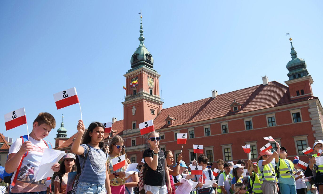 Uroczystości na starówce (fot. PAP/Marcin Kmieciński)