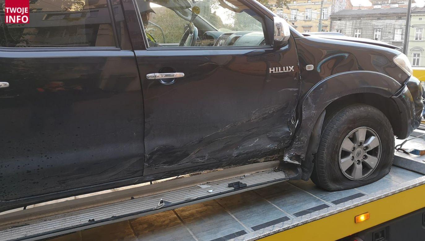 Samochód został odholowany (fot. Twoje Info)