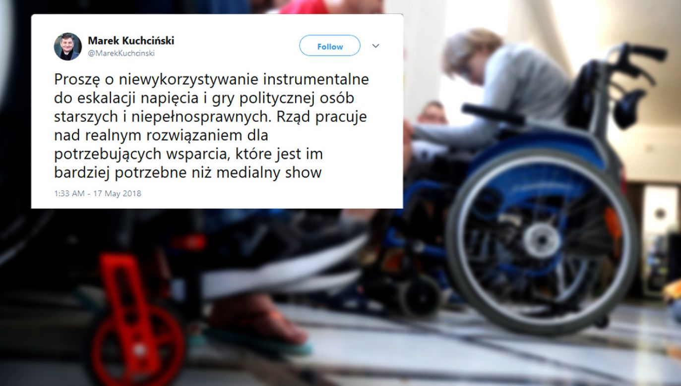 Marszałek Sejmu prosi na twitterze o niewykorzystywanie niepełnosprawnych do gry politycznej  (fot. PAP/Tomasz Gzell)