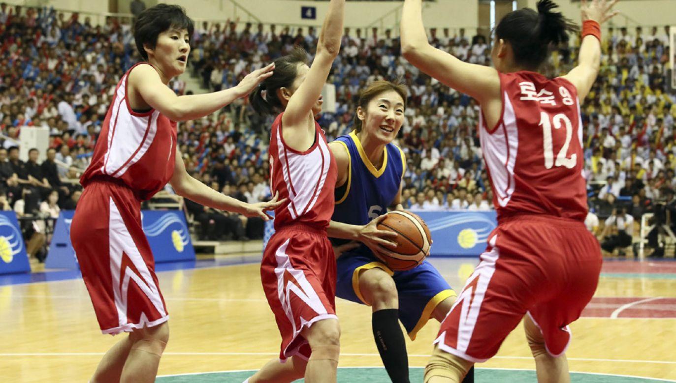 Koszykarskie reprezentacje Korei Północnej i Południowej zostały połączone przed Igrzyskami Azjatyckimi (fot. Getty Images/NurPhoto)