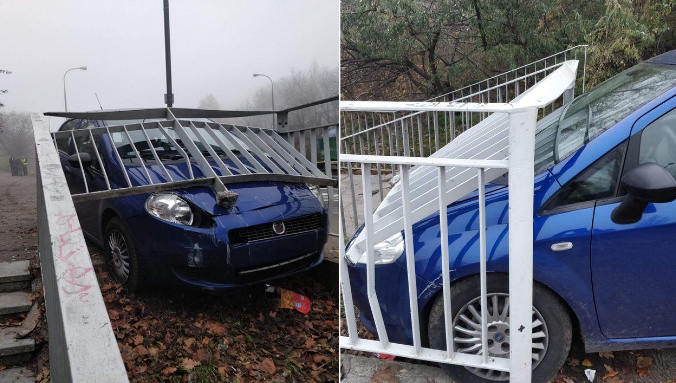 Wypadek na moście Łazienkowskim w Warszawie (fot. warszawawpigułce.pl)