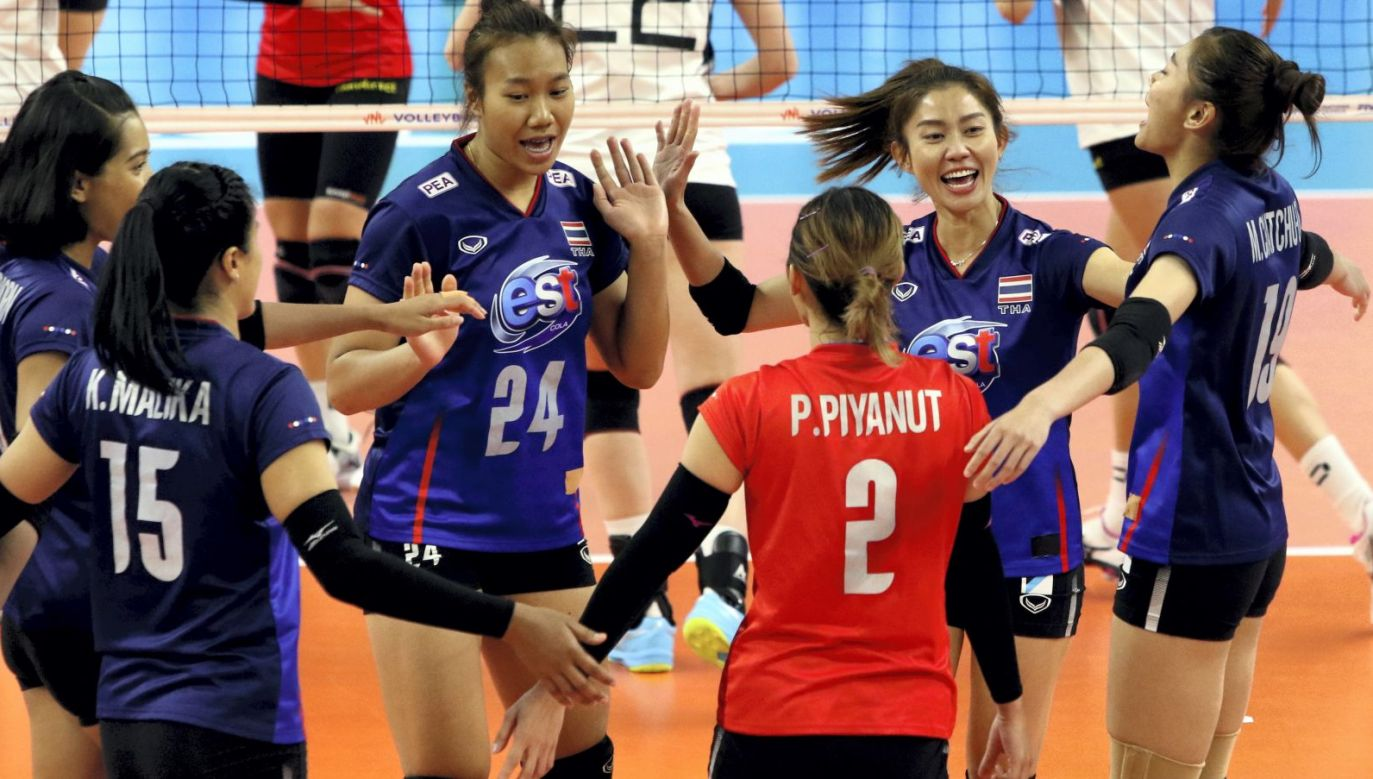 Radość siatkarek z Tajlandii (fot. PAP)