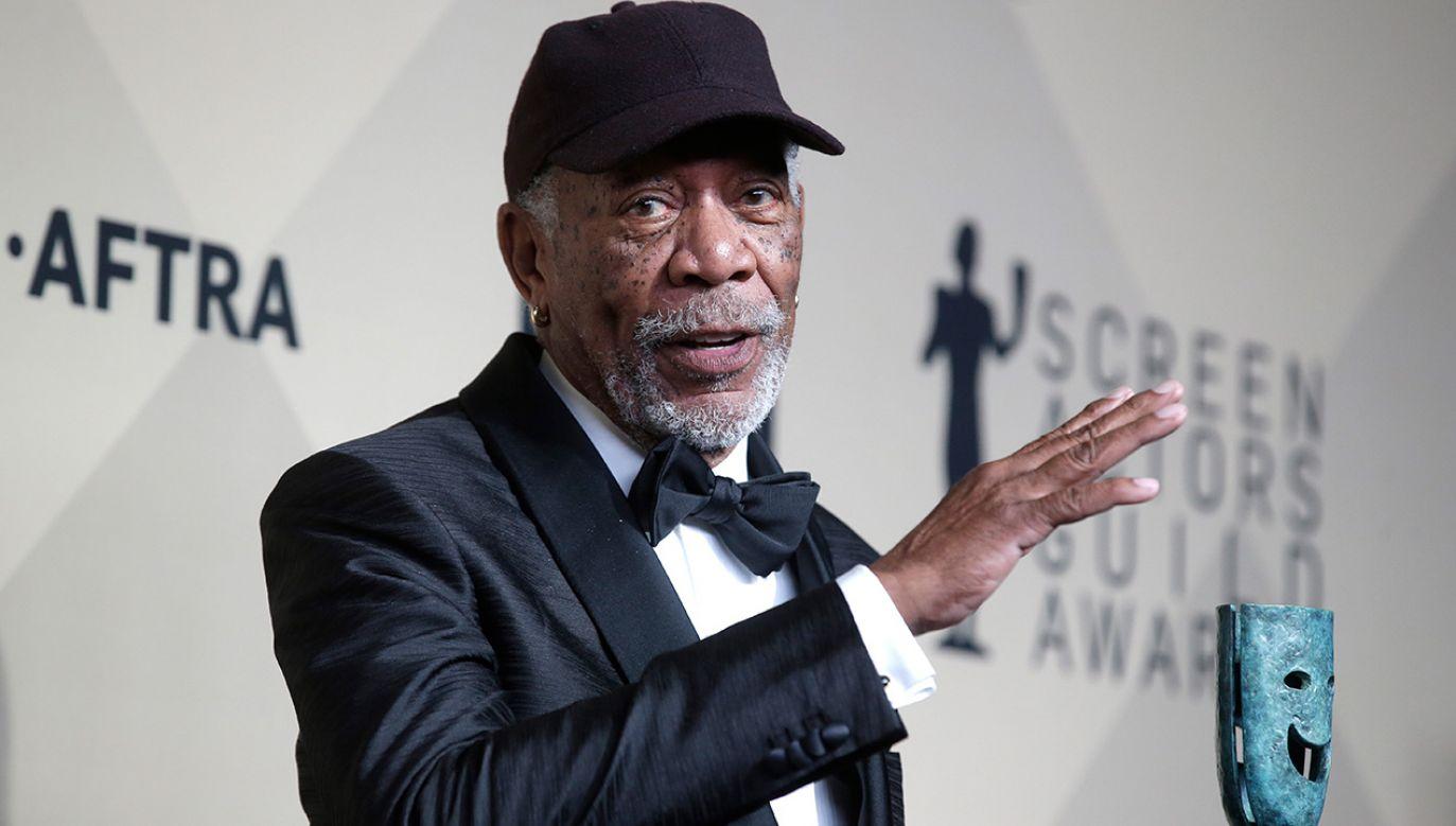 Freeman jest kolejną znaną osobistością w Hollywood wobec której formułowane są takie zarzuty (fot. PAP/EPA/MIKE NELSON )