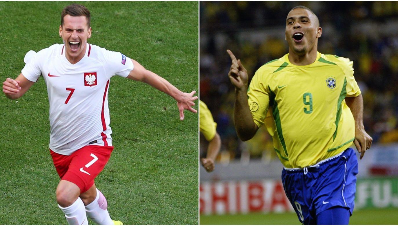 Arkadiusz Milik i Ronaldo (fot. Getty Images)
