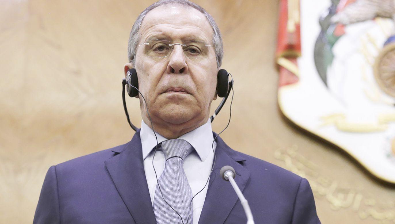 Szef MSZ Rosji Siergiej Ławrow (fot. PAP/ EPA/ANDRE PAIN)
