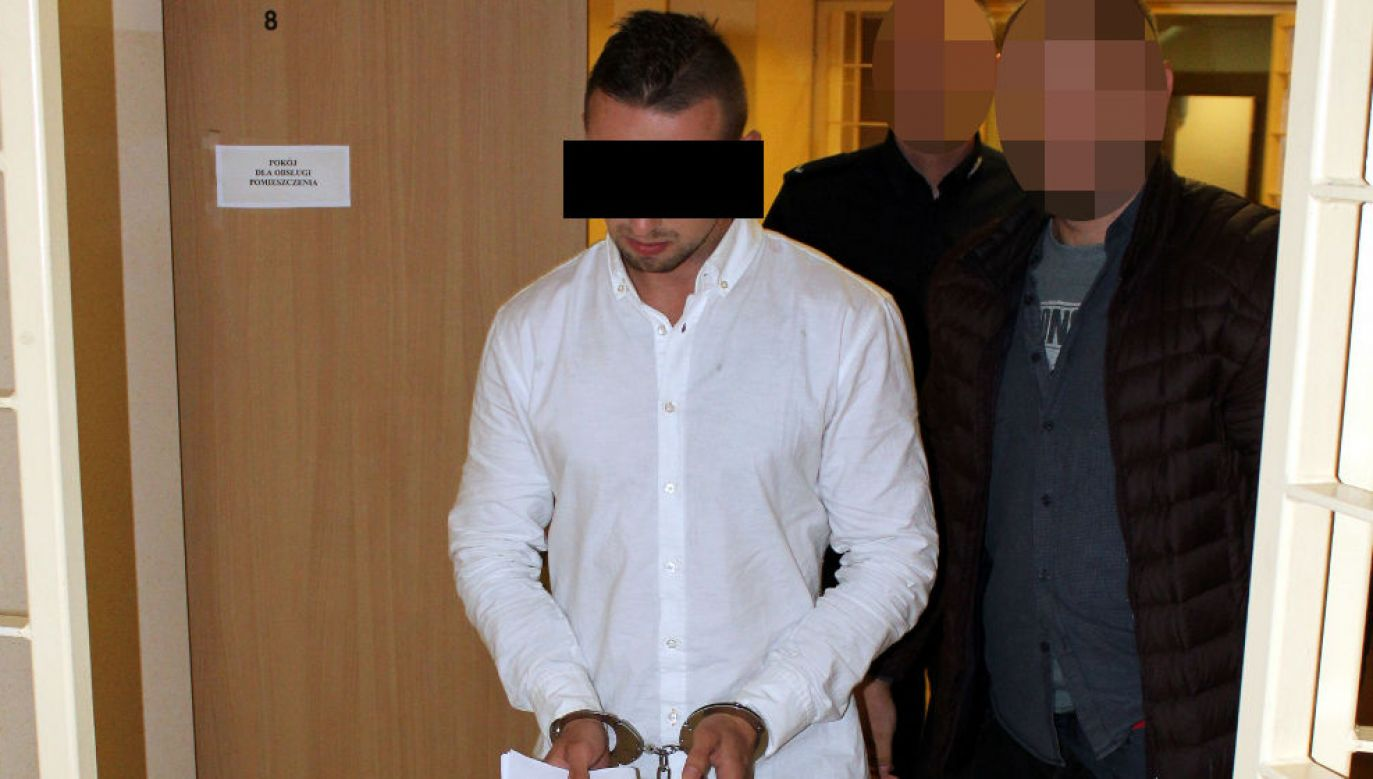 Jeden z zatrzymanych przestępców (fot. policja.waw.pl)